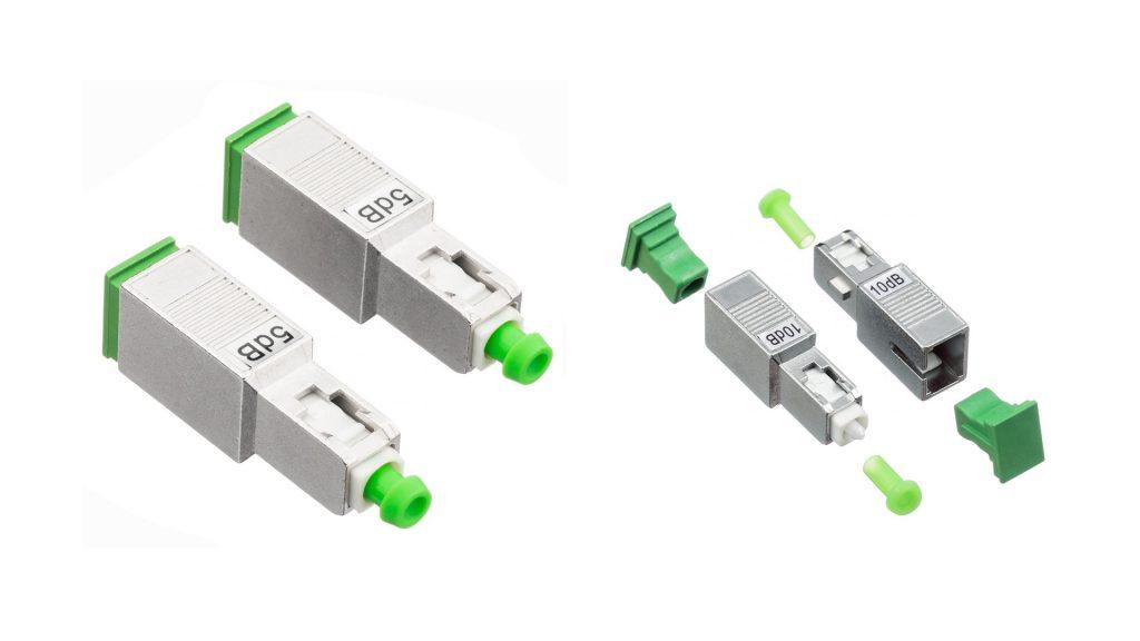 SC male to SC female fixed optical attenuator
