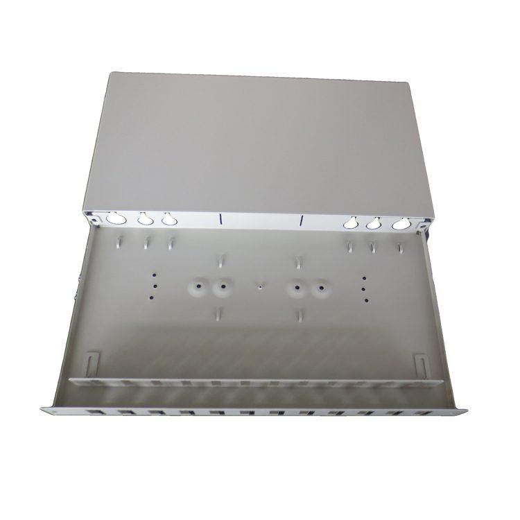 South Africa Opterna Fiber Optic 19 inch 1U 24 Ports SC Duplex Adapter Sliding Patch Panel