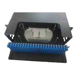 Egypt 19inch 3U 96 ports sc adapter sliding patch panel with glass door