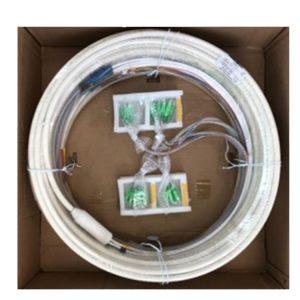 Module 4 fiber optic preconnected at 50% riser column distribution cable