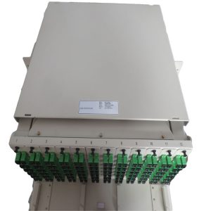 Telecom Egypt 19inch 3U 144 ports SC Modular type sliding patch panel with glass door
