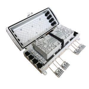 16 Cores Fiber Optic Terminal Box Plastic Plug FTTH Splice Closure