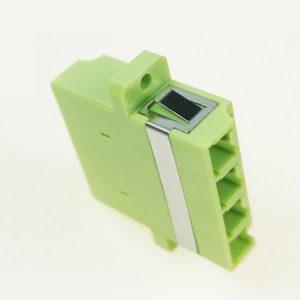 Fiber Optic LC Quad 4core Lime Green Om5 Adapter
