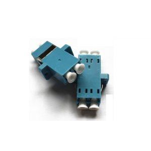 Fiber optic flange lc upc duplex adapter
