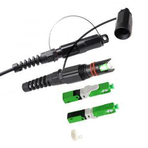 Outdoor Waterproof fiber optic Mini SC Fast Connector