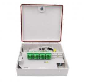 Outdoor PC Material Waterproof 48 Core FTTH Fiber Optic Distribution Box Spliter Box