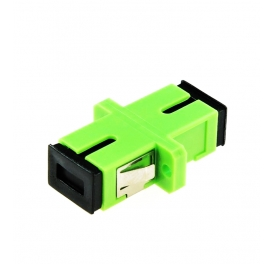 SCAPC to SCAPC Simplex Single Mode Fiber Optic Adapter with Metal Clips with Flange FTTH SC Adapter