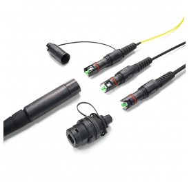 Waterproof Outdoor Optic Connectors, FTTA Patch Cord Compatible with Optitap Conector